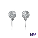 ides愛蒂思 日韓時尚設計純銀晶鑽耳環/棒棒糖