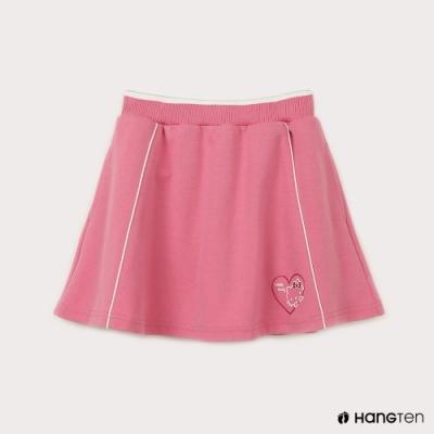 Hang Ten-女童-Sanrio鬆緊愛心印花短裙-粉紅色