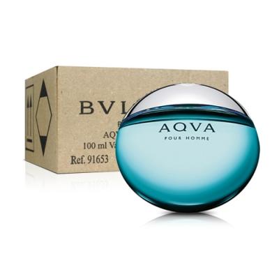 *BVLGARI 寶格麗水能量男性淡香水 100ml(tester/環保盒包裝/試用品)