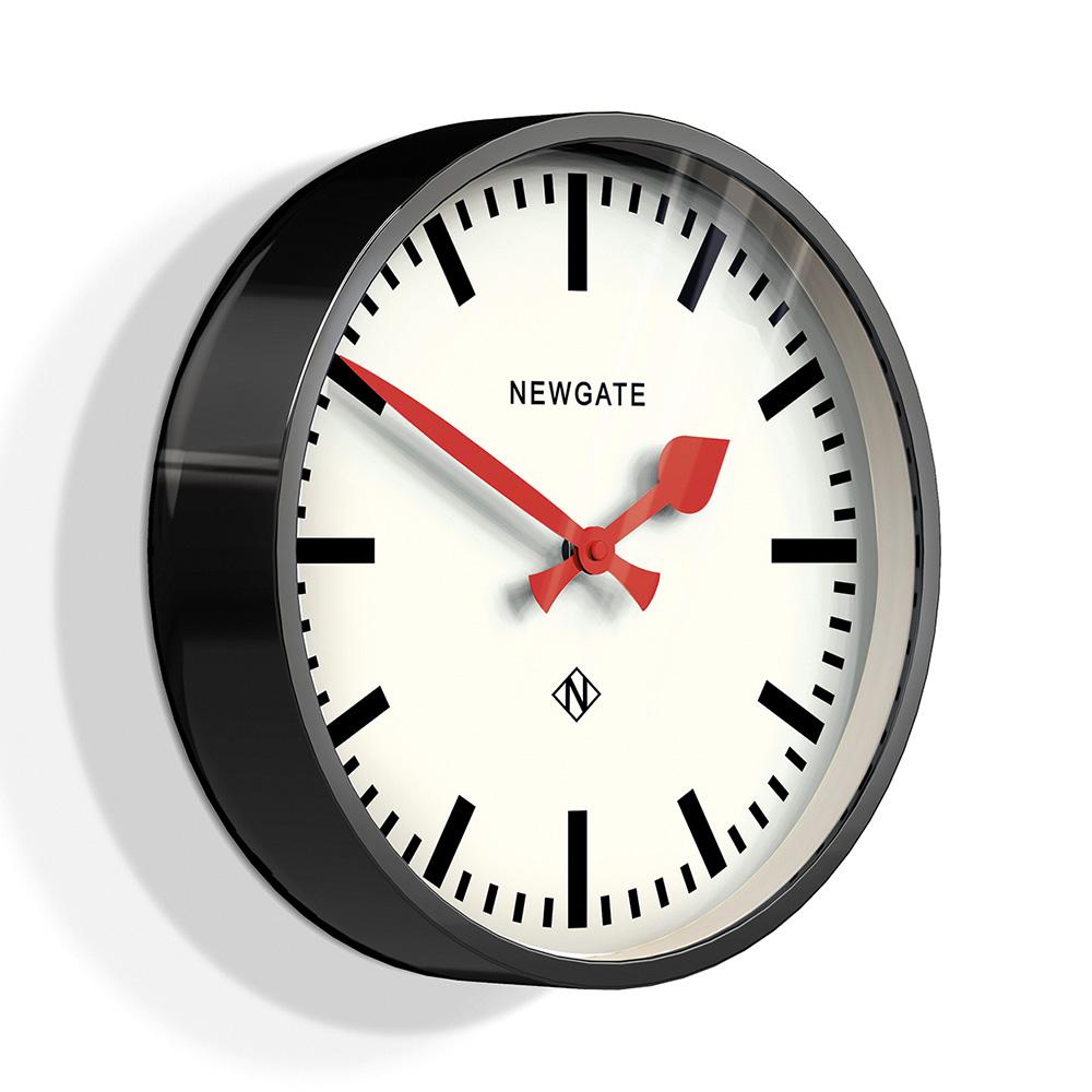 Newgate 英倫風格時鐘-經典英倫-紳士黑-30cm