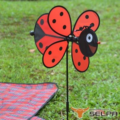 韓國SELPA 繽紛飾品 瓢蟲風車
