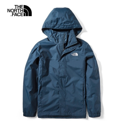 The North Face 男 防水透氣衝鋒外套 藍-NF0A49F7H2G