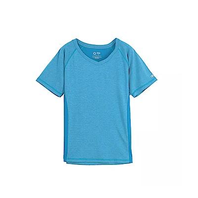 Gfun 女吸濕排汗T恤 - 天藍色(G7URSL2-blue)