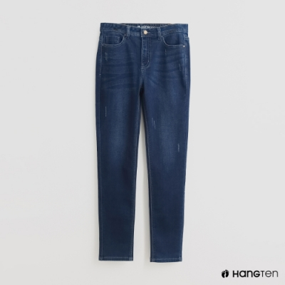 Hang Ten -經典修身牛仔窄褲 - 藍