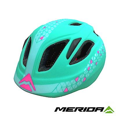 《MERIDA》美利達 兒童安全帽 綠/粉 50-54CM