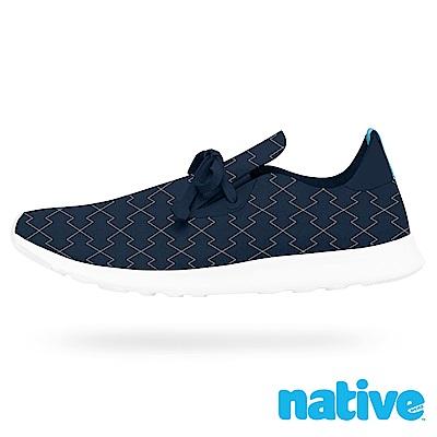 native APOLLO MOC 男/女鞋-海軍藍菱格刺繡