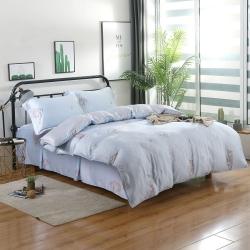 夢工場憨憨萌熊40支紗萊賽爾天絲四件式床罩兩用被-雙人