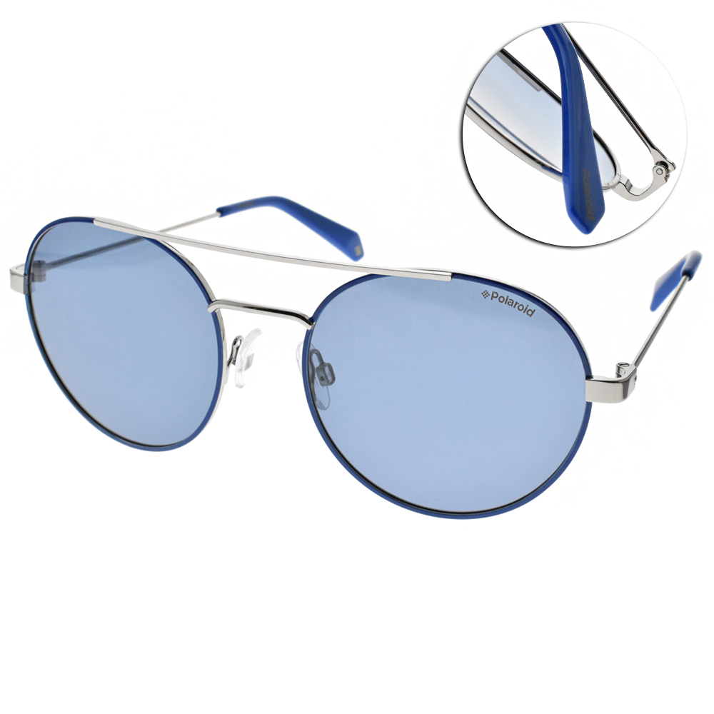 Polaroid 偏光太陽眼鏡 活力飛行款/藍銀 #PLD 6056S PJPC3