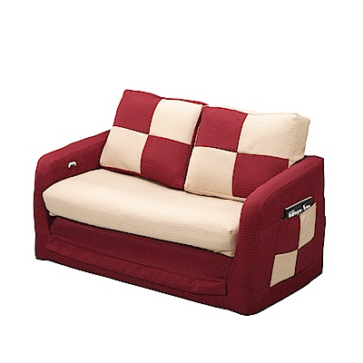 綠活居 布爾亞麻布拉合式沙發床(二色可選)-138x65.5x64.5cm-免組