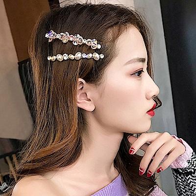 梨花HaNA 韓國南大門夢中的女孩水晶珍珠晶瑩髮夾