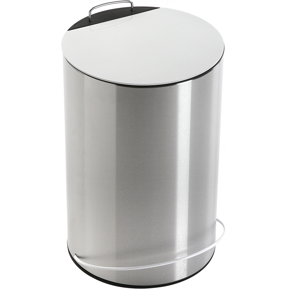 《VERSA》不鏽鋼腳踏式垃圾桶(白13L)