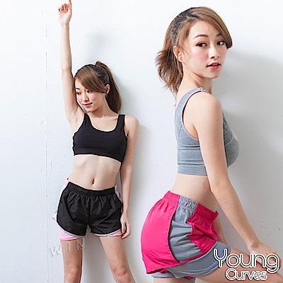 Young Curves 排汗防走光時尚運動短褲-2入組(C05100030)