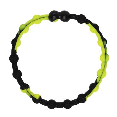 Pro Hair Tie 扣環髮圈單條組-黑黃色