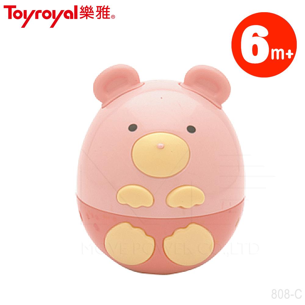 【任選】日本《樂雅 Toyroyal》小熊不倒翁