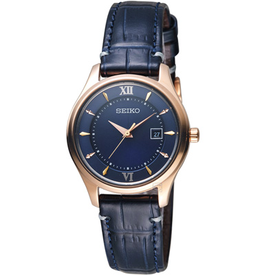 SEIKO精工SPIRIT聖誕限量太陽能鈦金屬女腕錶(STPX066J)