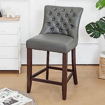 Boden-藍恩實木吧台椅/吧檯椅/高腳椅(矮)(二入組合)-48x57x91cm