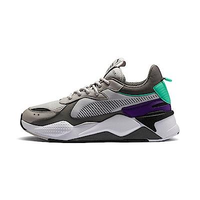 PUMA-RS-X TRACKS 男女復古慢跑運動鞋-淺灰