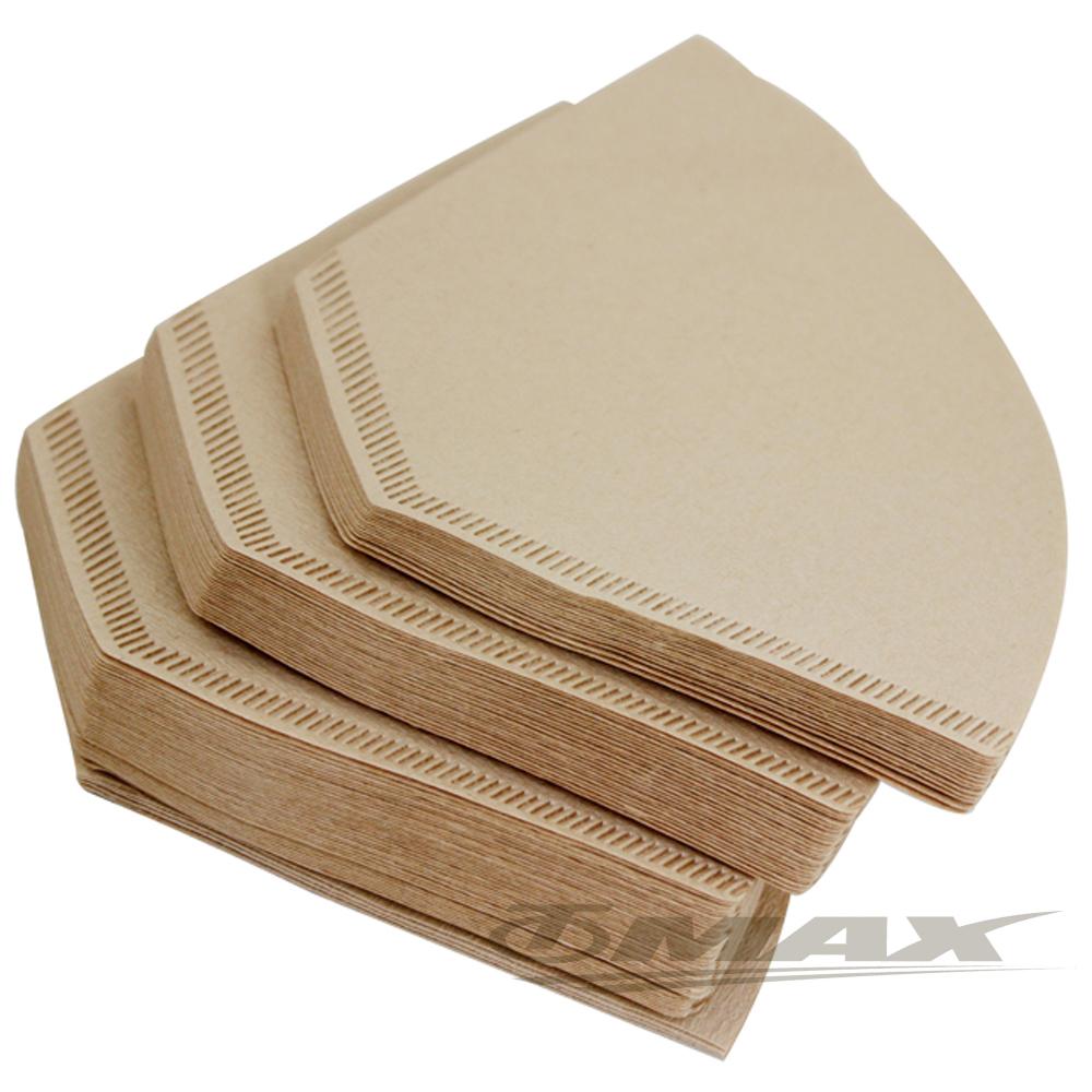 omax無漂白咖啡濾紙2~4杯用-480入(6包裝)-快