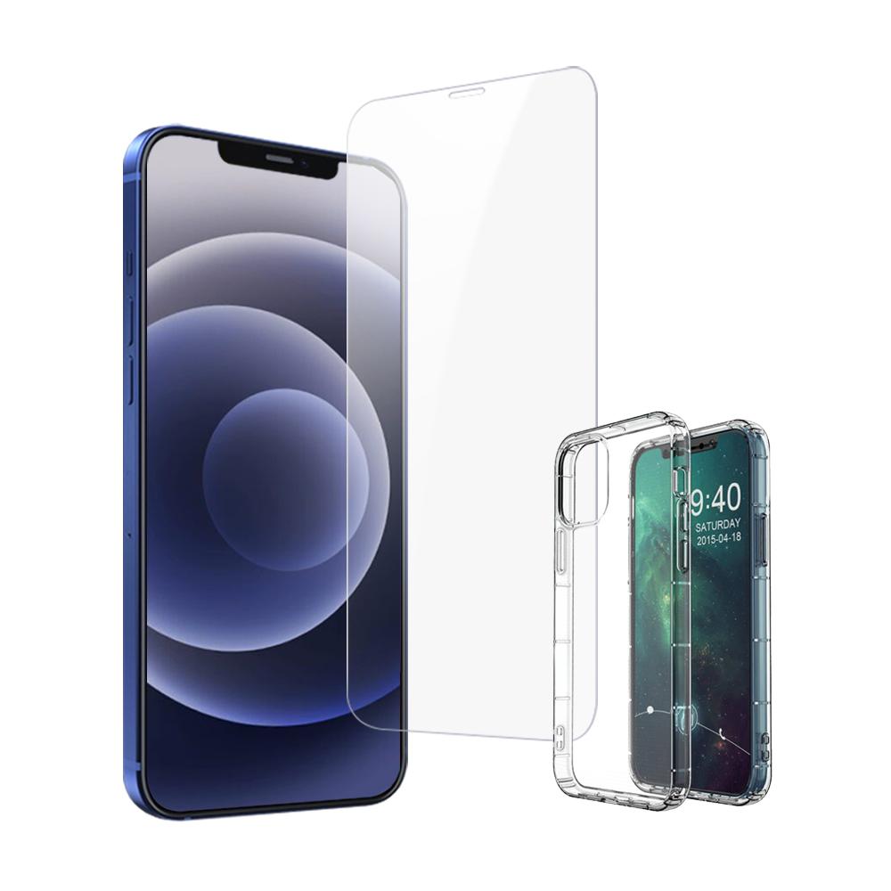 買保護貼送手機殼 iPhone 12 Pro 非滿版 高清透明 手機 保護貼 iPhone12Pro保護貼 iPhone12Pro鋼化膜