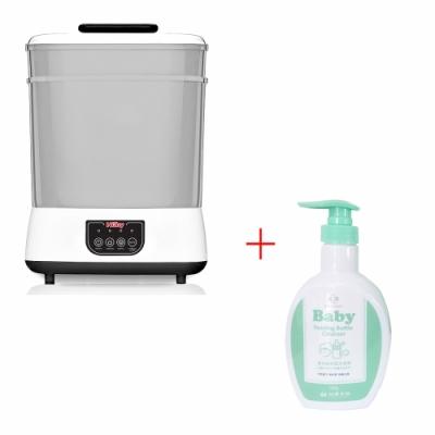 Nuby蒸氣消毒烘乾鍋+台塑生醫Dr s Formula 嬰幼童奶瓶洗潔劑罐裝1罐