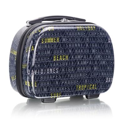 旅遊首選 旅行收納可外掛式 PC硬殼收納箱 化妝包 過夜包(文字遊戲)