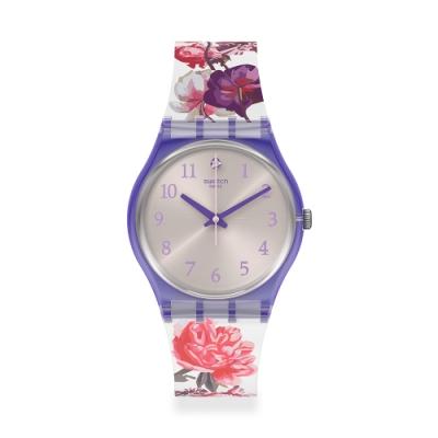 Swatch LovelyGarden系列手錶 SWEET GARDEN 牡丹花園-34mm