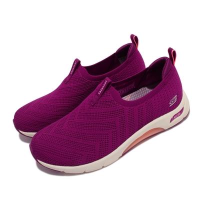Skechers 休閒鞋 Skech Air Arch Fit 女鞋 氣墊 專利鞋墊 緩震 郊遊 健走 紫 淺褐 104251-RAS