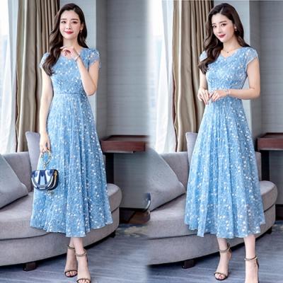 【韓國K.W.】繁星點點愜意休閒洋裝-2色