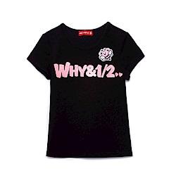 WHY AND 1/2 棉質萊卡T恤-親子裝 11Y~14Y以上