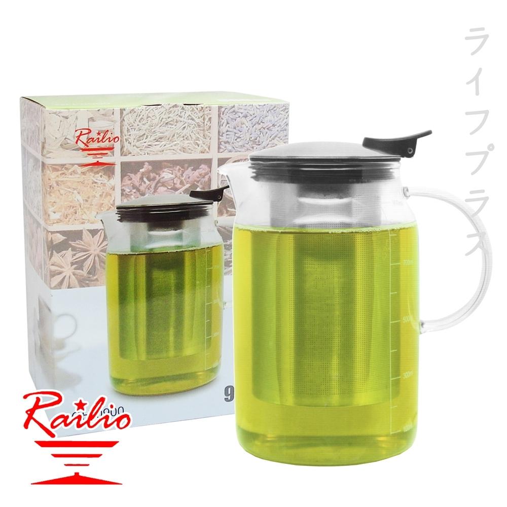 RAILIO 摩登花茶壺-900ml-2入組