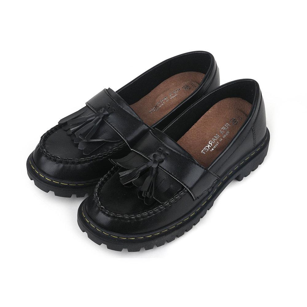 BuyGlasses 英國流蘇樂福鞋-黑