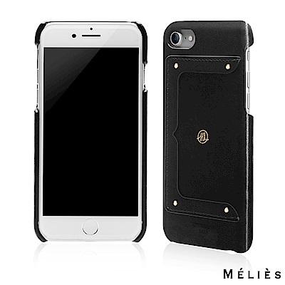 JTL iPhone 7 Plus Melies 設計師款真皮背蓋-爵士黑
