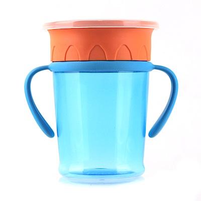 Basilic 貝喜力克 360度神奇喝水杯270ml(防漏學習杯)-超值兩入組