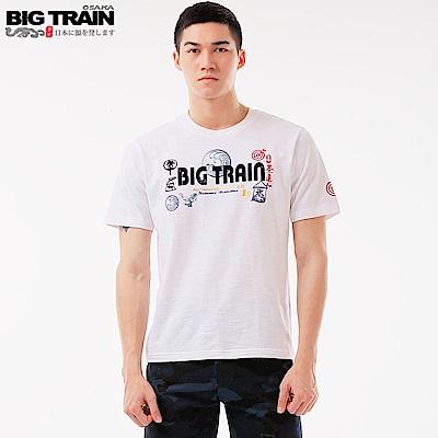 Big Train 夏日祭典情侶T男款-男-白色