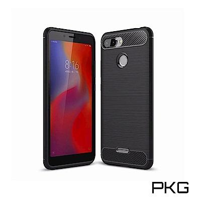 PKG  紅米6  抗震防摔手機殼-時尚碳纖紋路+抗指紋系列