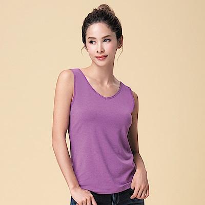 莎薇-極衣恆溫 M-LL 圓領背心保暖衣(紫)