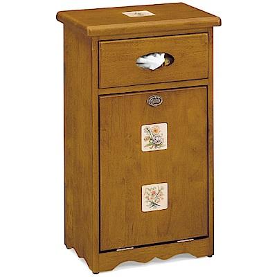 綠活居 艾弗1.4尺彩繪垃圾櫃/收納櫃(二款式可選)-42x28.5x73cm免組