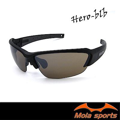 MOLA摩拉運動太陽眼鏡 UV400 男女 黑 鼻墊可調整 自行車 跑步 高爾夫