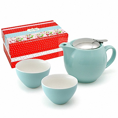 ZERO JAPAN 典藏陶瓷一壺兩杯超值禮盒組(湖水藍)