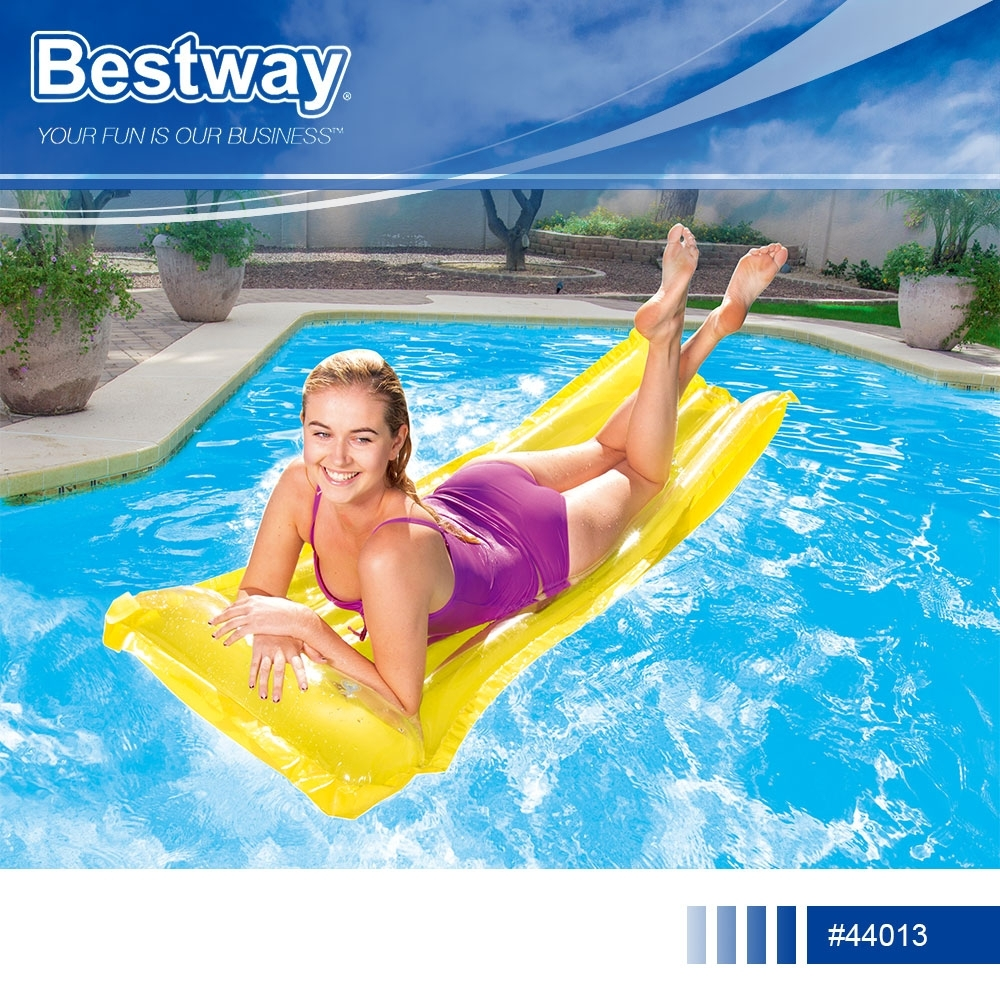 Bestway 44013水上充氣浮排游泳圈漂浮床.海邊泳池戲水螢光浮板水上充氣床座圈躺椅