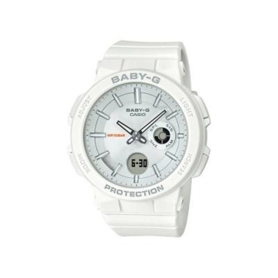 CASIO卡西歐 BABY-G系列 冒險女孩運動雙顯電子錶-白/45.1mm