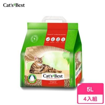 德國凱優Cat′s Best-經典凝結木屑砂(紅標凝結型) 5L/2.1kg 四包組