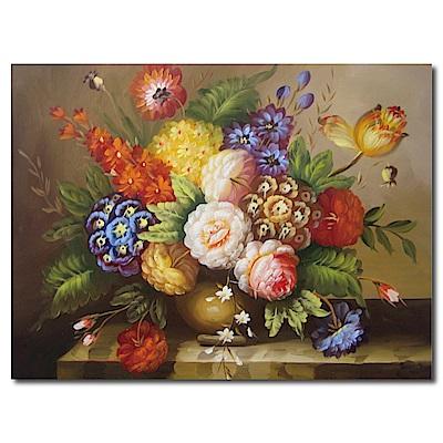 橙品油畫布-單聯式橫幅 掛畫無框畫-晚宴-40x30cm
