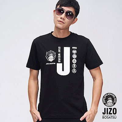 地藏小王 BLUE WAY 奧萊 JIZO家徽短TEE(黑)