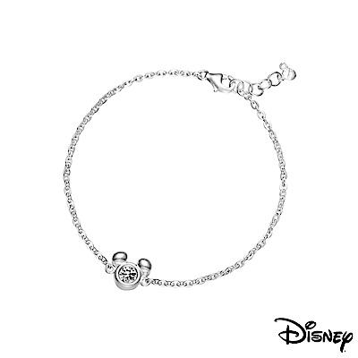 Disney迪士尼系列銀飾 純銀手鍊-閃亮米奇款