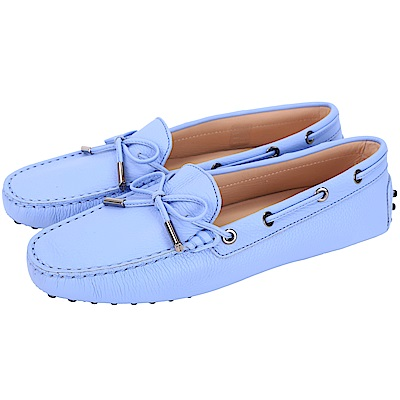 TOD'S Gommino 經典綁帶休閒豆豆鞋(女鞋/淺藍色)