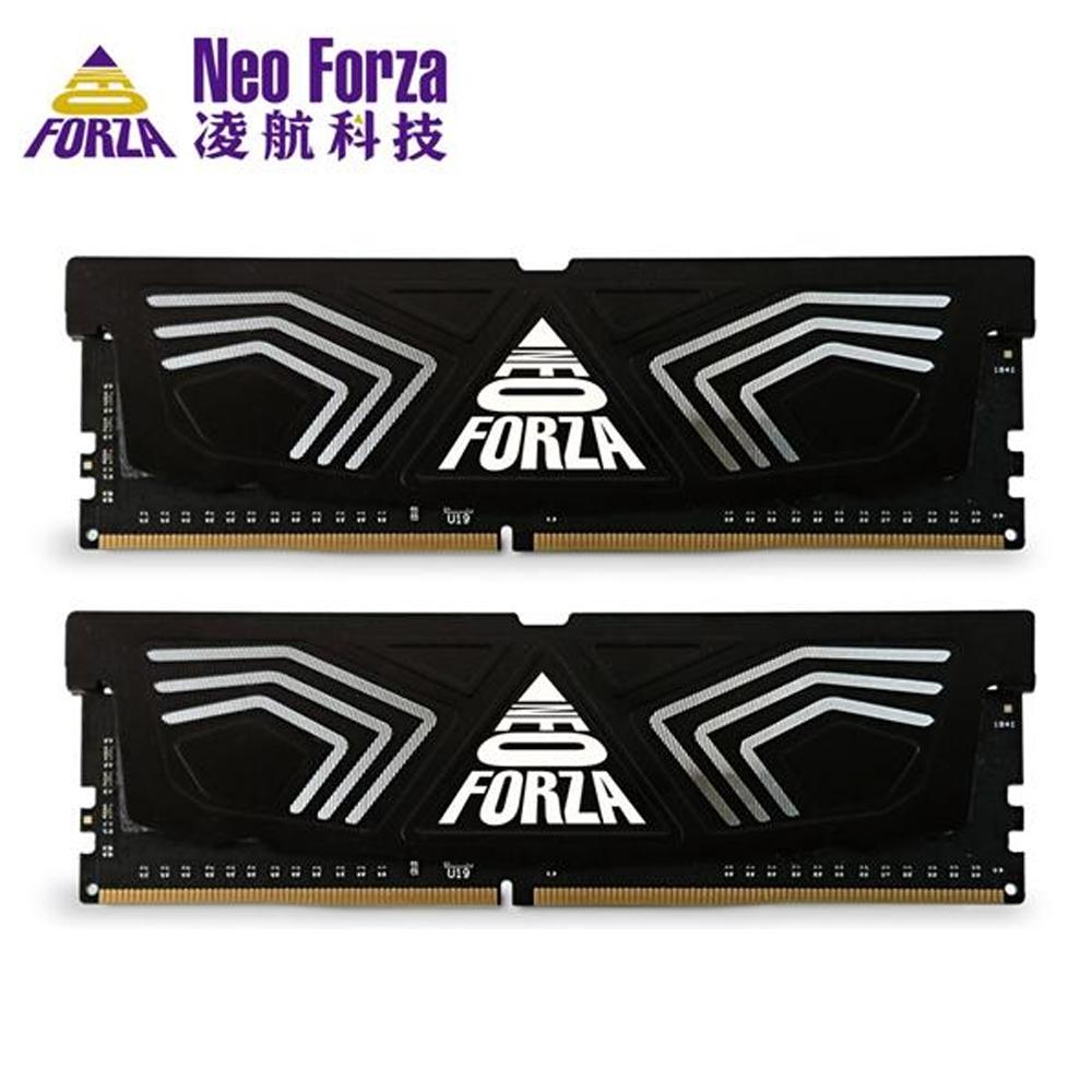 Neo Forza 凌航 FAYE DDR4 3600 16G(8G*2) 超頻RAM 桌上型記憶體(黑色散熱片)