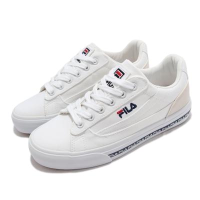 Fila 休閒鞋 Classic Kicks L 2 女鞋 斐樂 韓版 簡約帆布鞋 電繡Logo 緩震 白褐 5C932V123