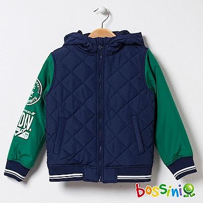 bossini男童-連帽舖棉外套01海軍藍