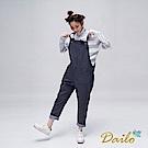 Dailo INLook高領條紋配色針織衫(灰)